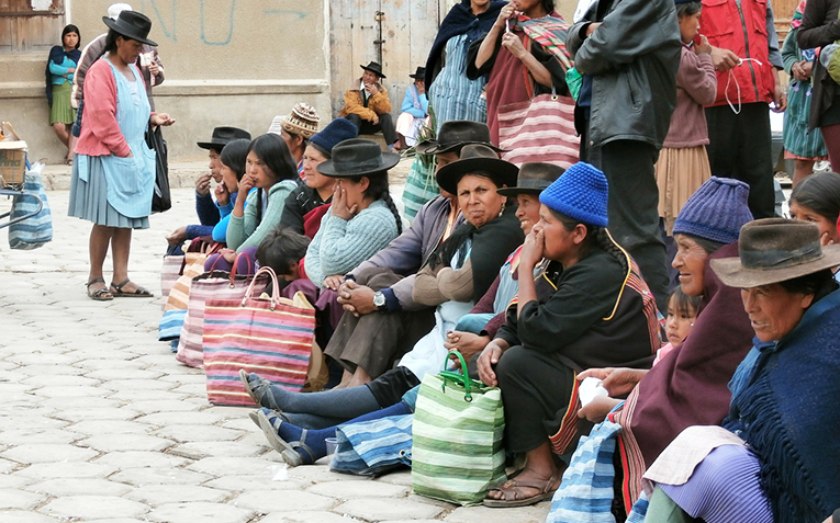People in a Bolivian market