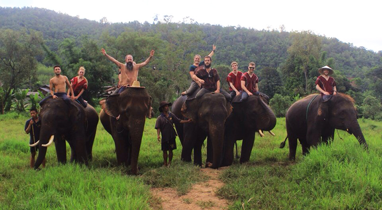 Elephant ride in Chiang Mai, Thailand