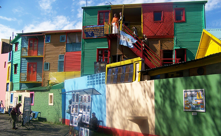 Colorful homes in Caminito, Buenos Aires, Argentina