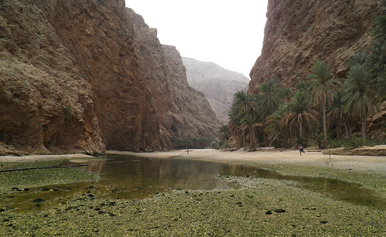 Lake in Wadi Rum in Oman