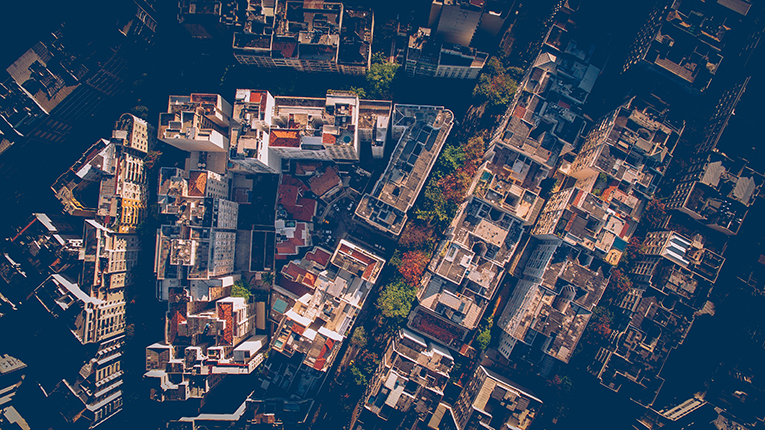 Bird's eye view of a Brazilian neighborhood