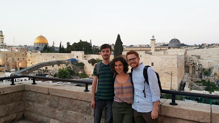 Students/interns in Jerusalem