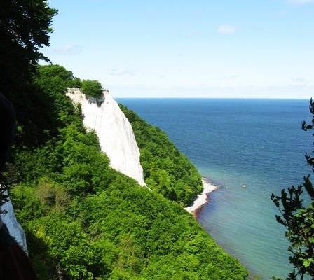 The white chalk cliffs of Rugen Island, Germany