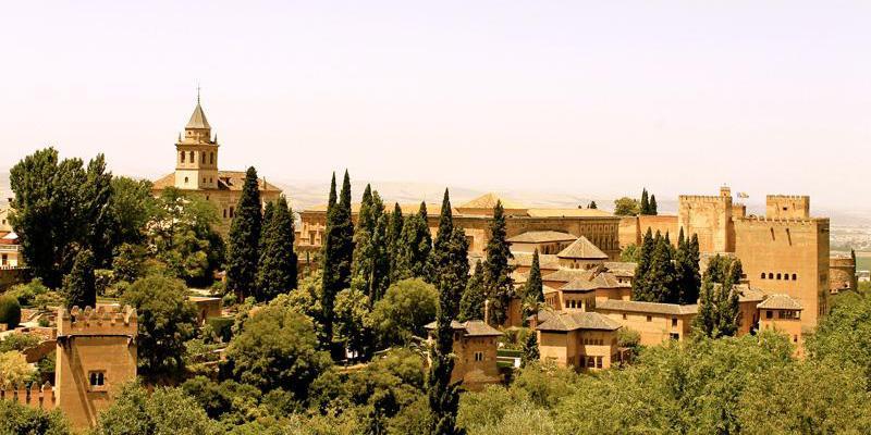 A hilltop view of Granada, Spain.