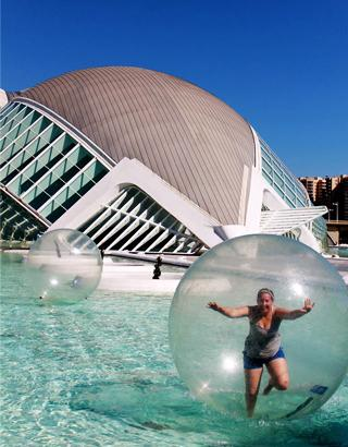 Float in a bubble while studying abroad in Valencia, Spain.