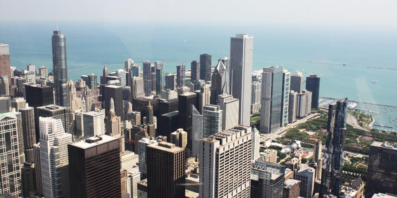 View of Chicago from the top of the Willis Tower