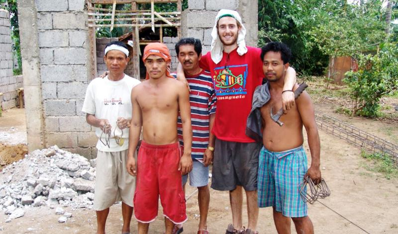 Construction volunteering in the Philippines
