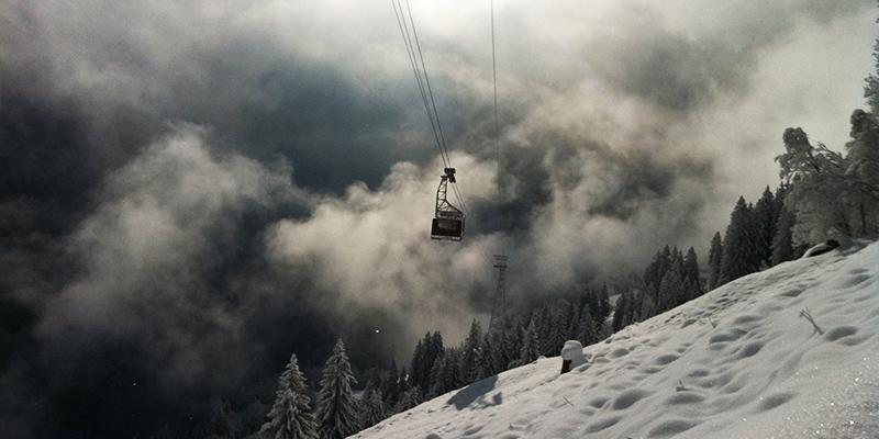 Ski Lift Amidst the Magnificence of Switzerlands Mountains
