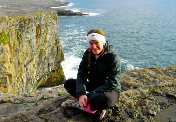 The author on the Irish coastline.