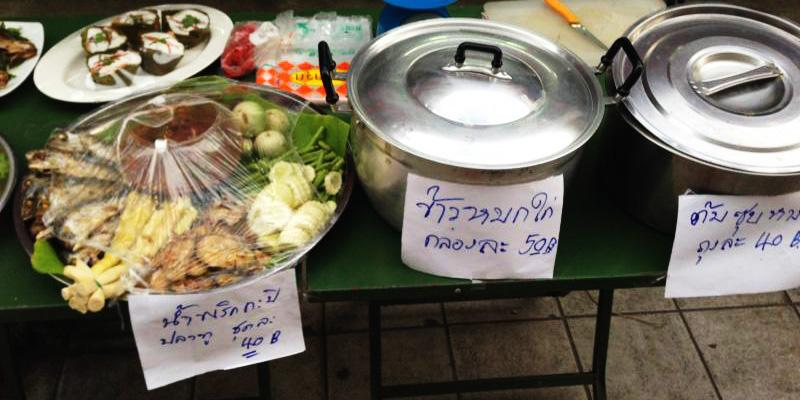 A typical street food stall in Bangkok, Thailand offers a wide variety of local favorites. Dont be afraid to try them!