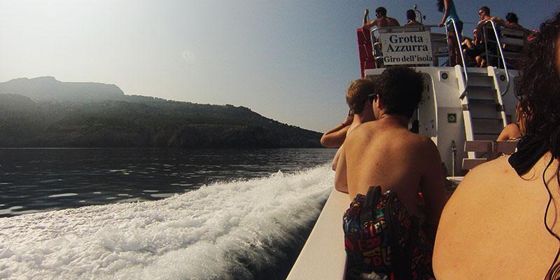 Boating along the Amalfi Coast in Italy