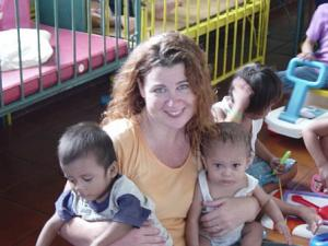 Volunteering abroad in an orphanage in the Philippines.