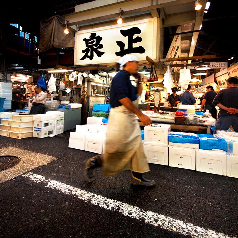Fish market in China