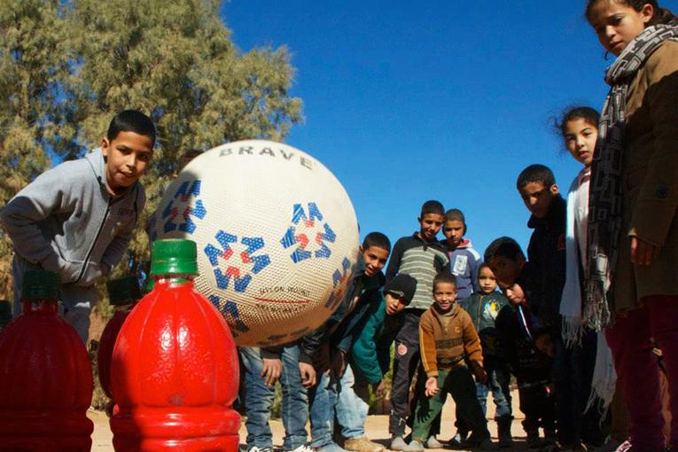 Volunteering with children in Ksar Taos, Morocco