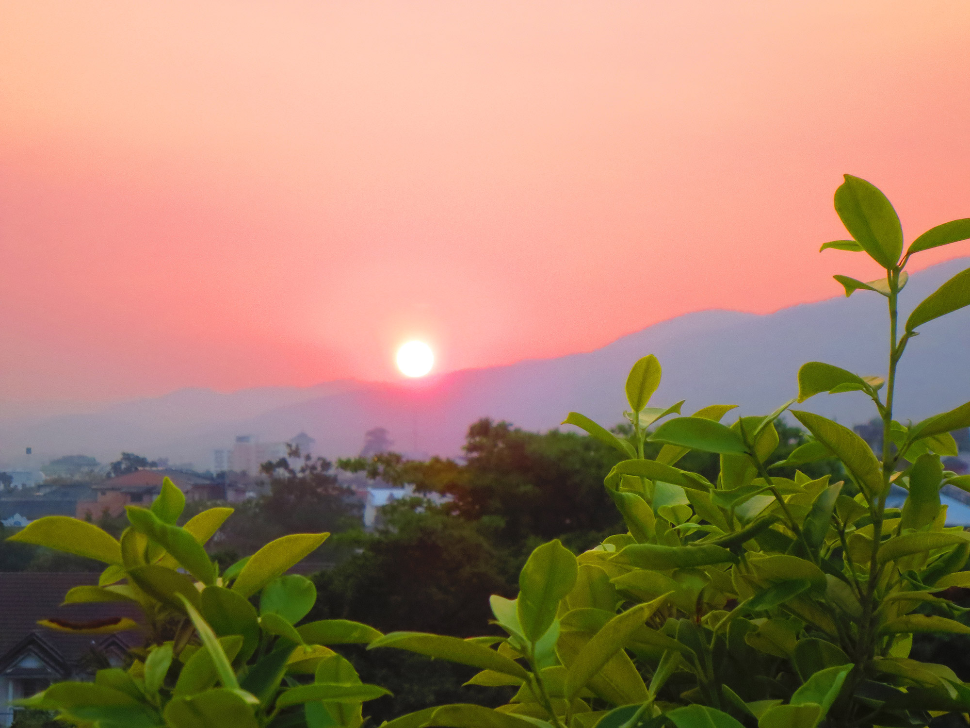 Sunset over Chiang Mai, Thailand