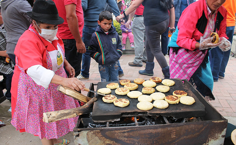 Street food in Colombia