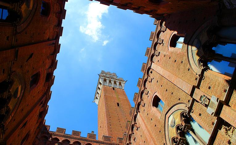 Palace in Siena, Tuscany, Italy