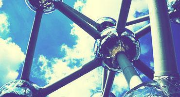 The Atomium, a building in Brussels, Belgium