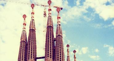 The Sagrada Familia church, an unfinished masterpiece in Barcelona