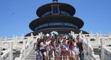 Study Abroad students at Beijing's Temple of Heaven