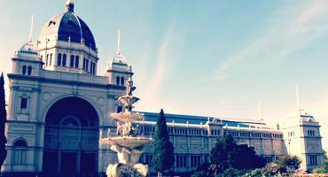 The Royal Exhibition Building in Melbourne, Australia