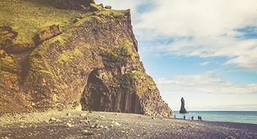 Cliff near a coastline