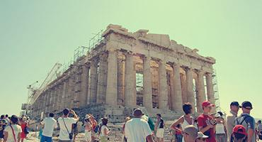 The Parthenon in Athens, Greece