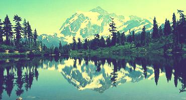Landscape view of Mount Shuksan