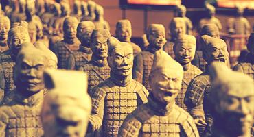 Statues of soldiers in China