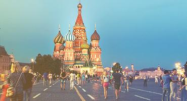 Saint Basil's Cathedral, Russia.