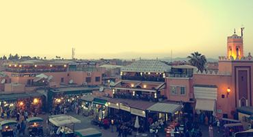 View of a medina in Morocco