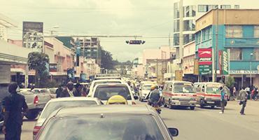 Busy street in Arusha, Tanzania