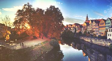 Tübingen, a traditional university town in central Baden-Württemberg, Germany.