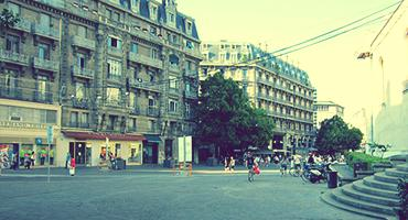 Street in Grenoble, France