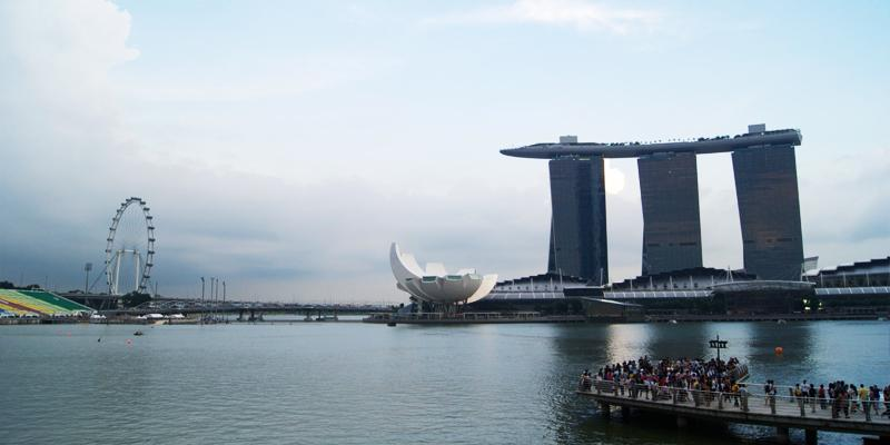Singapore's Flyer and Sands SkyPark.