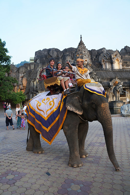 An elephant ride in Chiang Mai, Thailand.