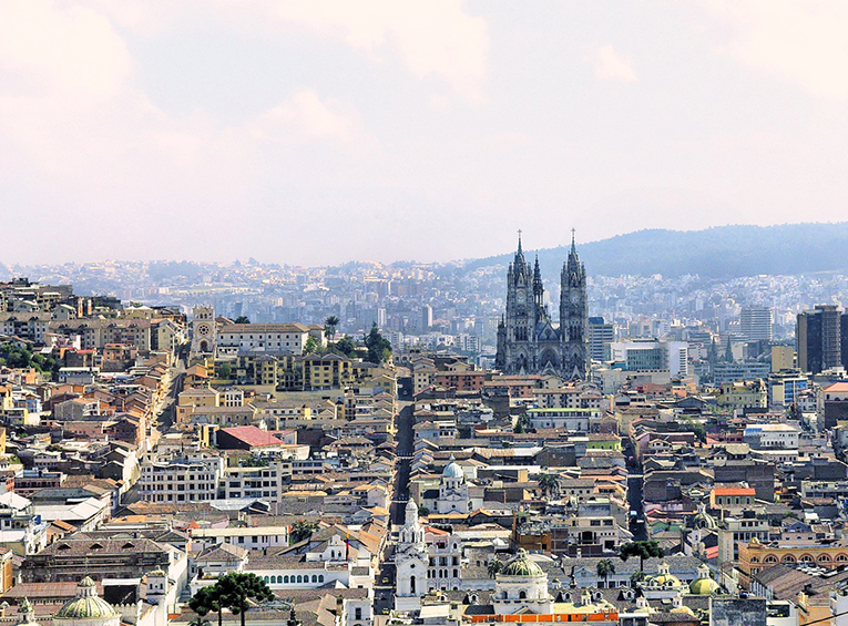 Cityscape of Quito, Ecuador
