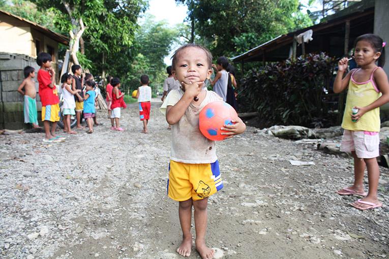 Filipino child in the Philippines