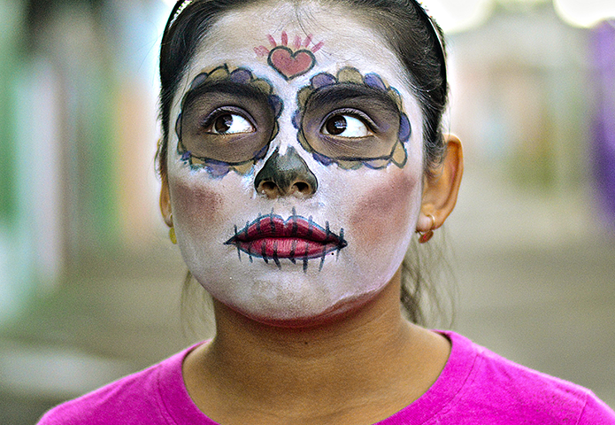 girl with Day of the Dead facepaint
