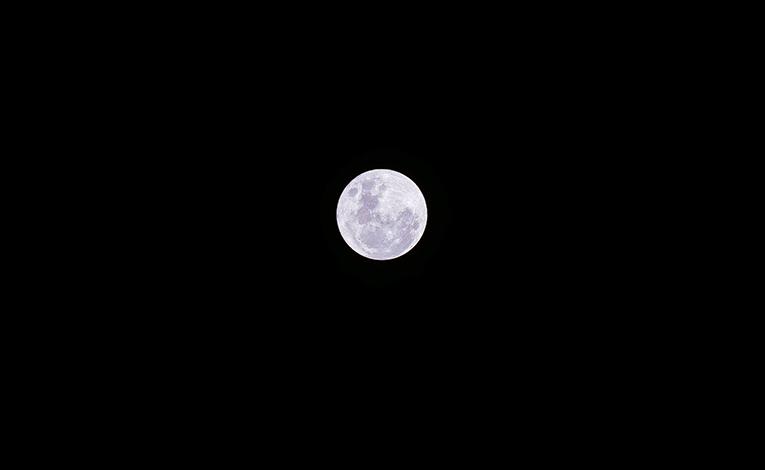 Bright, glowing full moon