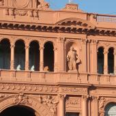 La Casa Rosada, with the famous balcony the Perrons spoke from.