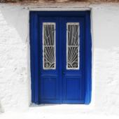 Greek architectural design in a village on the island of Lefkada