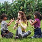 Creating personal relationships with children while volunteering in Guatemala