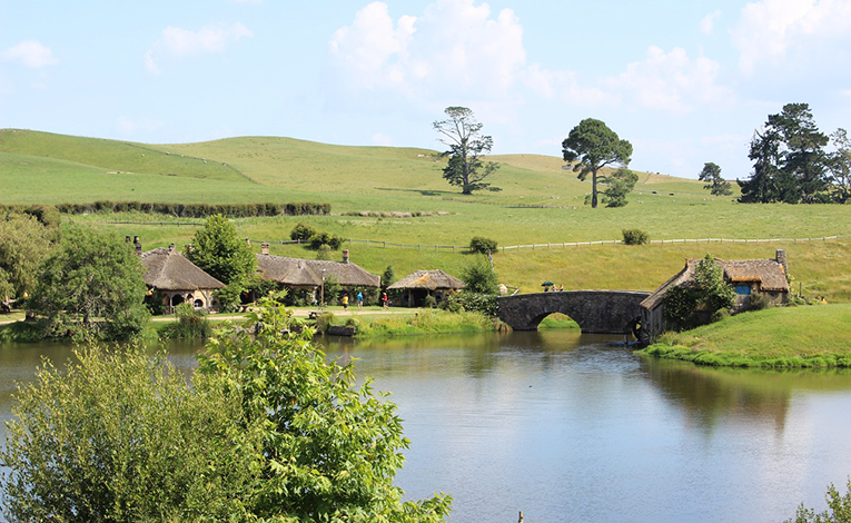 Countryside in Hobbiton, New Zealand