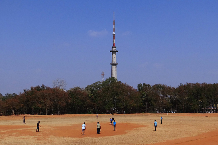 Kids playing cricket in Dharwad, India.