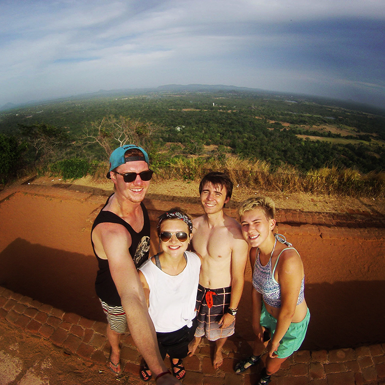 Selfie on top of Sigiriya