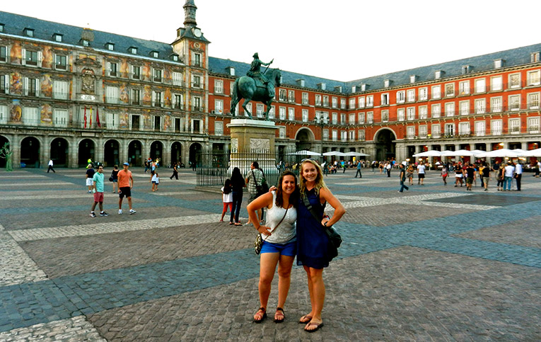 A square in Madrid, Spain