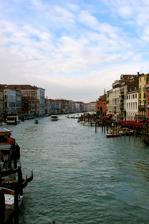 A View of Venice from the Rialto Bridge in Italy