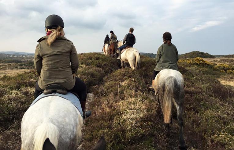 Horseback riding in Connemara, Ireland
