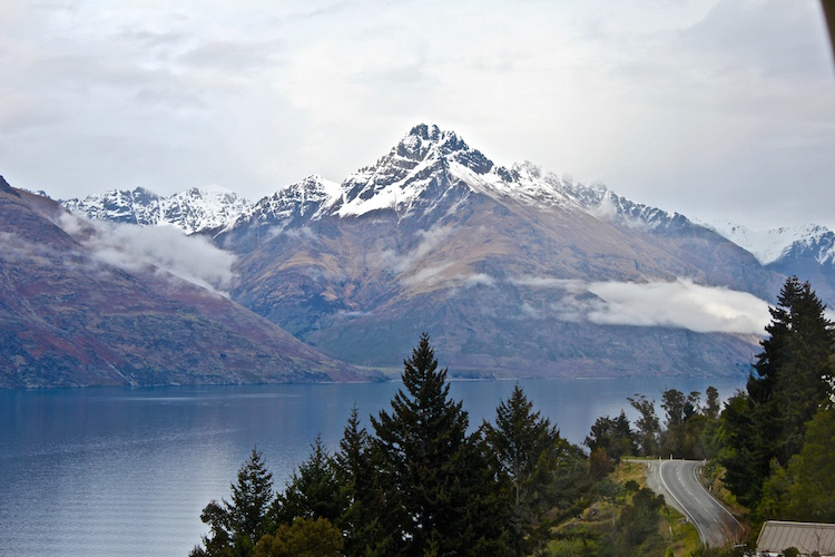 Mountains view in Queenstown, New Zealand